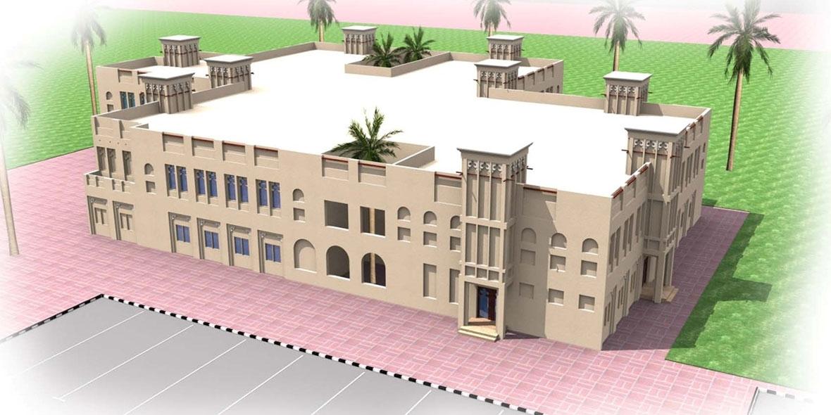 Sketch of a sacred building