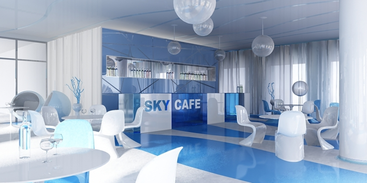 Sky caf inside photo shot