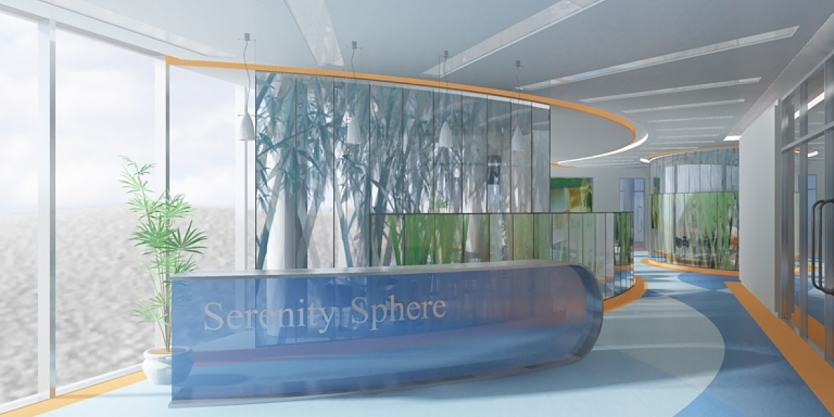 Serenity Sphere Health building Photoshop